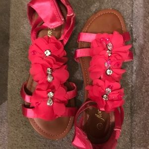 Pink sandals, Size 7.5